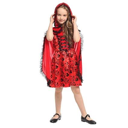 ERFD&GRF Niños Niñas Caperucita Roja Disfraz Niños Disfraces ...