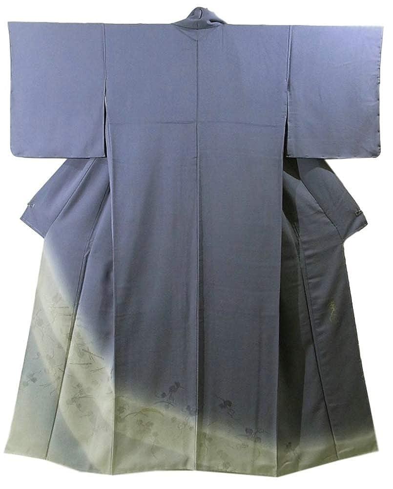 リサイクル 着物 色留袖 [染めの座玄才] 縫い取り 蔦に笛 裄66.5cm 身丈163cm 正絹 袷 B07HWHF265