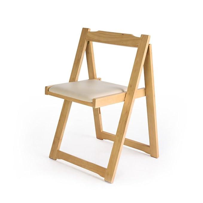 Amazon.com: Silla de comedor de madera para casa, silla ...