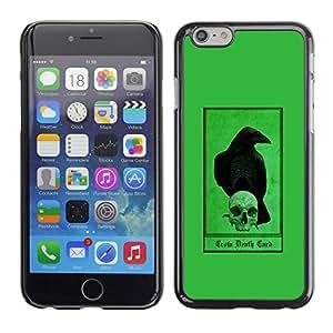 """For Apple Iphone 6 Plus / 6S Plus ( 5.5 ) Case , Cuervo Cuervo verde cráneo Pájaro Oscuro"""" - Diseño Patrón Teléfono Caso Cubierta Case Bumper Duro Protección Case Cover Funda"""