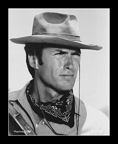 - 8 x 10 All Wood Framed Photo Clint Eastwood - Rawhide