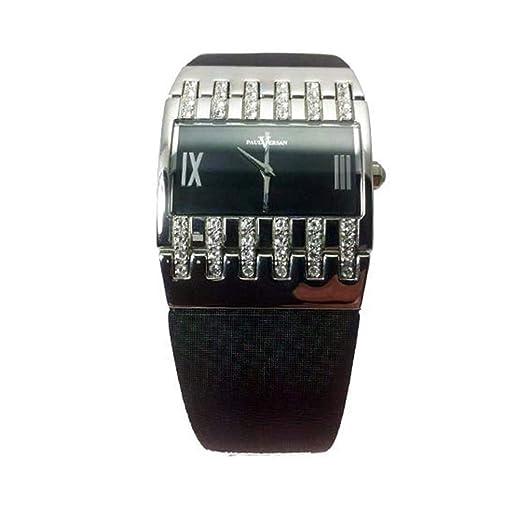 Reloj Paul Versan PV4406-NN señora de Cuarzo, Correa Piel Color Negro: Amazon.es: Relojes