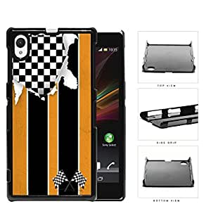 America Distorted Orange Racing Flag Hard Plastic Snap On Cell Phone Case Sony Xperia Z1