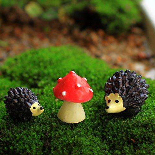 Ginsco Miniature Ornament Hedgehog Dollhouse