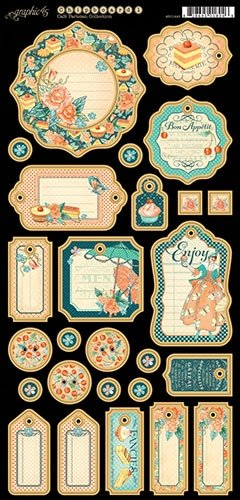 Graphic 45 4501440 Cafe Parisian Journaling Chipboard