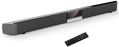 Barra de Sonido con subwoofer inalámbrico Sistema de Cine en casa estéreo con Pantalla LED de