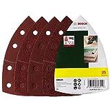 Bosch DIY 25tlg. Schleifblatt-Set verschiedene Materialien für Multischleifer (Körnung 40/80/120/180, 11 Löcher)