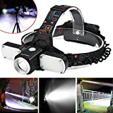 Leegor 5000LM XM-L T6 +2 LED Adjustable headlamp Headlight Travel Head Torch Set