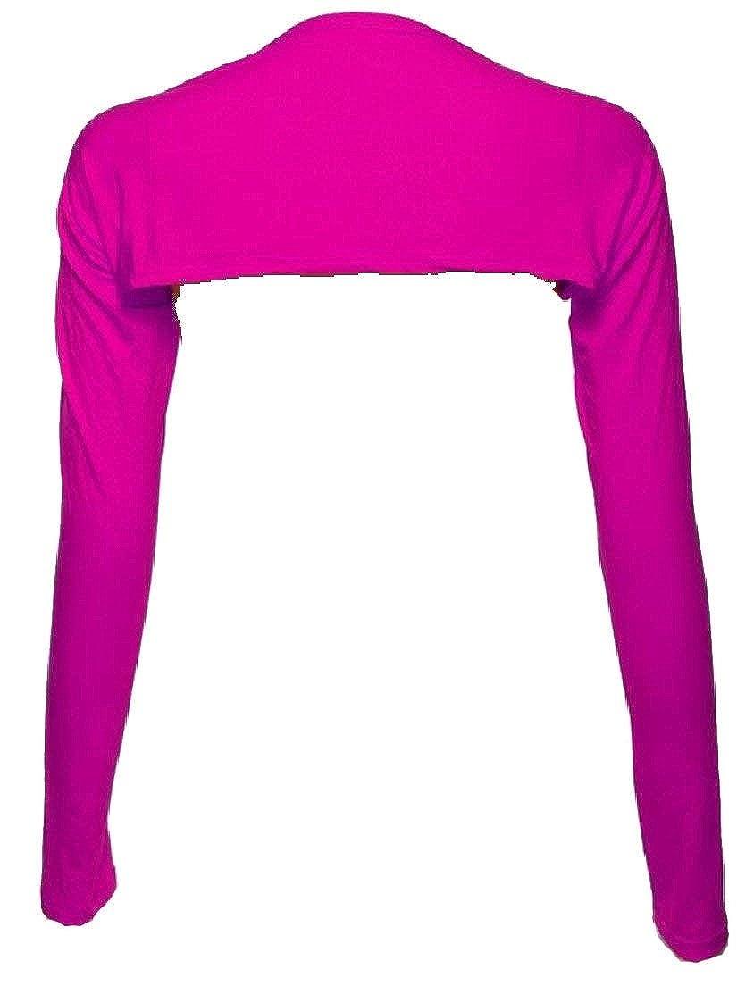Alion Womens Casual Bolero Muslim Long Sleeve Shrug Crop Tops