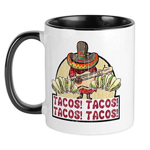 CafePress Tacos! Tacos! Tacos! Tacos! Mug Unique Coffee Mug, Coffee Cup