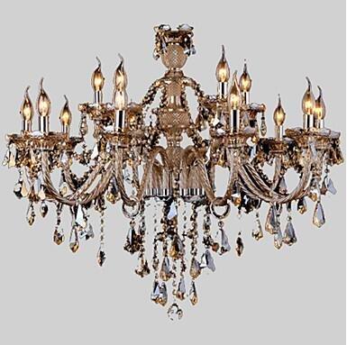YanCui@ Chandelier Crystal Cognac Color Luxury Modern Fashion 2 Tiers Living 15 Lights , multi color-110-120v by YanCui Manufacturer (Image #3)