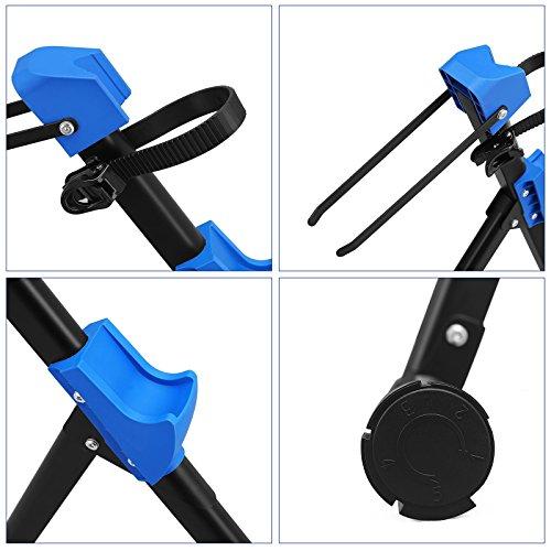 SONGMICS Soporte para Reparar Bicicletas Uso doméstico Caballete para Bicicleta Plegable Plataforma de reparación Profesional Ligero Portátil Negro SBR01B: ...