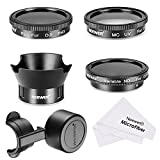 Neewer Filter and Accessory Kit for DJI Phantom 4, Includes: UV Filter, CPL Filter, ND2-400 Filter, Tulip Petal Lens Hood, Lens Cap Protector, Cleaning Cloth