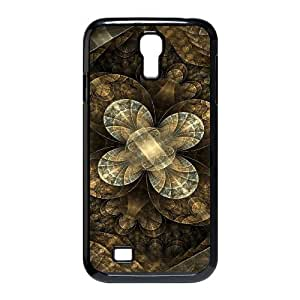 3D Okaycosama Funny Samsung Galaxy S4 Case Flower 154 for Men, Case for Samsung Galaxy S4 for Men, [Black]