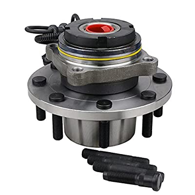 Bodeman - DUAL REAR WHEEL Models Front Wheel Hub & Bearing Assembly for Ford F-250 F-350 F-450 F-550 Super Duty- 4x4 ABS - Course Threads: Automotive