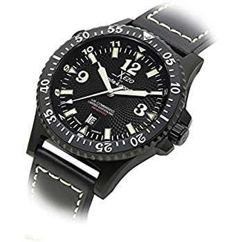Xezo men s air commando japanese automatic dive luxury watch d45 ss 2nd time zone for Xezo watches