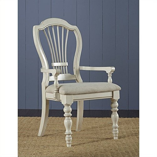 Wheat Back Chair - Hillsdale Pine Island Wheat Back Arm Dining Chair (Set of 2)
