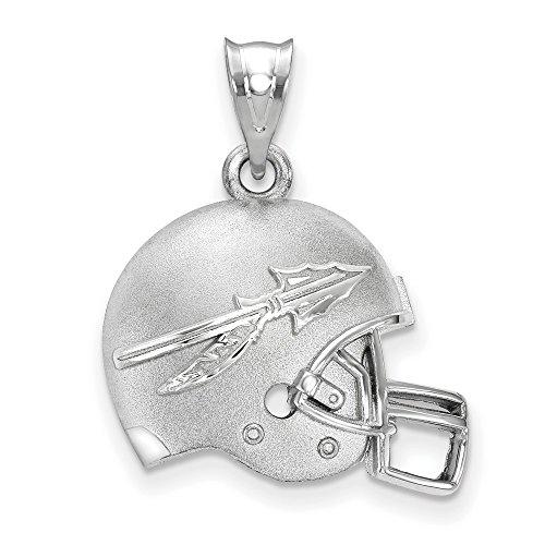 Seminoles Fsu Pendant (Jewelry Stores Network Florida State University Seminoles Sterling Silver Football Helmet Logo Pendant)