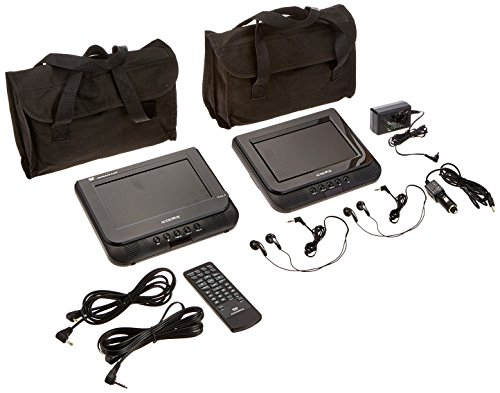 Audiovox Dual screen 7inch Portable DVD Player with headr...
