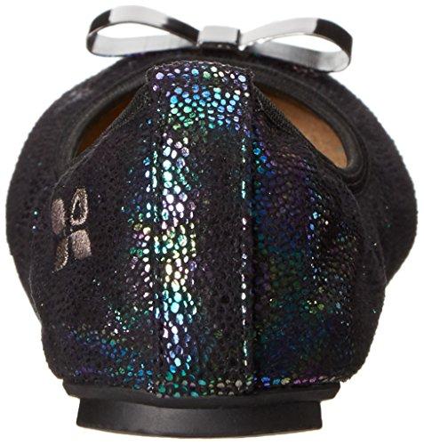 Bailarina ButterflyTwists Chloé Baby irisado plegable, color negro Negro - negro