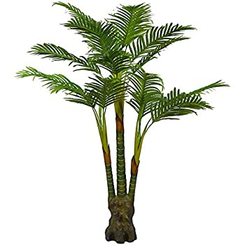 Amazon.com: Nearly Natural 5259 Paradise Artificial Palm Trees , 5 ...