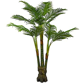 Artificial Palm Plant for Office House Decor 5.35-Feet Indoor Outdoor Silk Green Tree , With No Pot(804#)