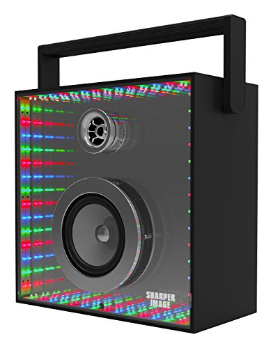 Sharper Image SBT3005BK Infinity Lights Mirror, Bluetooth Wireless Speaker With Lights, Colorful LED Show -  Southern Telecom