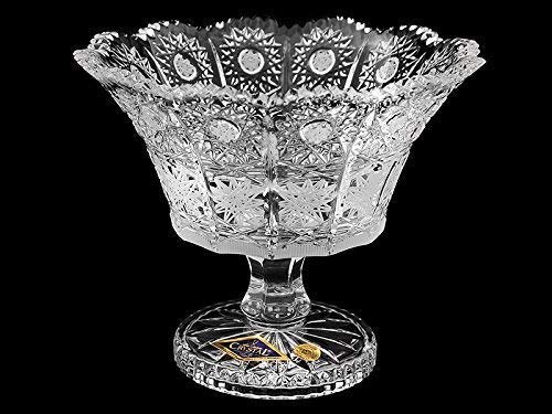 BOHEMIA CRYSTAL GLASS FOOTED VASE-BOWL 6