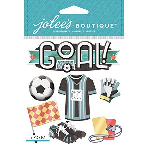 Jolee's Boutique Dimensional Stickers-soccer - Ek Success Football