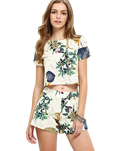 Floerns Womens Print Sleeve Shorts product image