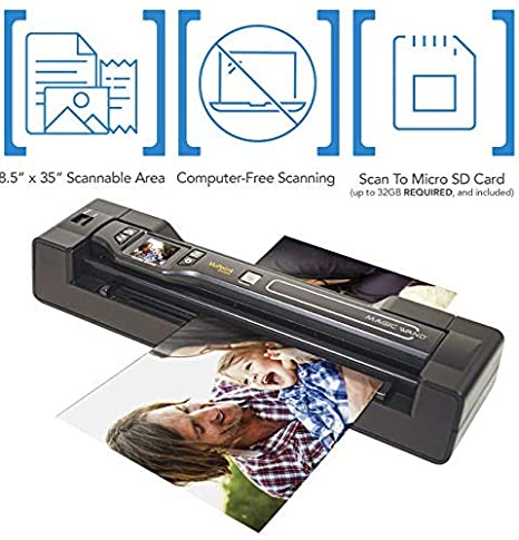 Vupoint ST470 Magic Wand Portable Scanner w//Auto-Feed Docking Station Deluxe Bundle