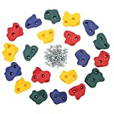 20 Rock Climbing Wall Holds with Screws for Children Indoor and outdoor Playground Climbing Wall