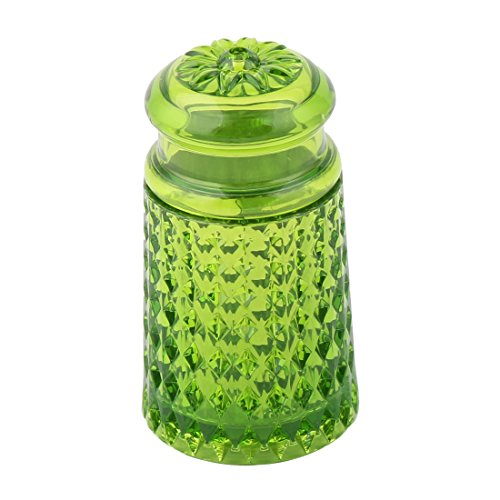 uxcell Plastic Can Home Kitchen Flower Pattern Head Toothpick Holder Storage Box Case Dispenser Green