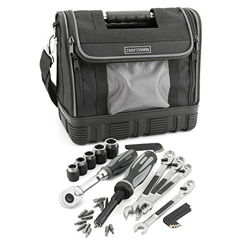 "Craftsman 40-piece Extreme Grip Mechanics Tools Set by Sears. Includes 1x3/8"" Drive Ratchet, 5x3/8"" Drive Sockets, 4x Wrenches, 1x Bit Driver, 15x Screwdriver Bits and 14x Hex Keys Inch and Metric."