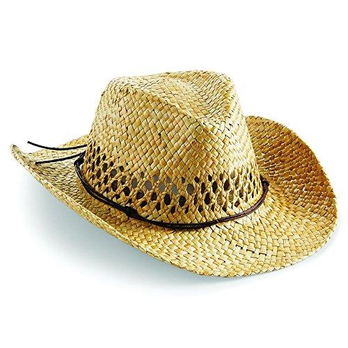 Beechfield Unisex Straw Cowboy Hat BB735 NAT ONE