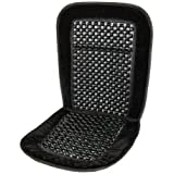 Deluxe Wooden Beaded Car Seat Cushion Pad Cover Back Support Black Auto Extreme