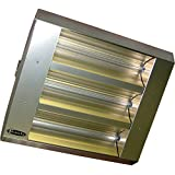 TPI 22360THSS240V Series THSS Mul-T-Mount Electric Infrared Heater with 3 Clear Quartz Lamps, 60° Symmetrical, 4800 W, 240 V