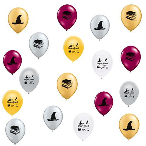 Harry Potter Party Themed Wizard School Theme Latex Balloons 18 Count Made in USA by guarateeing100percentnow