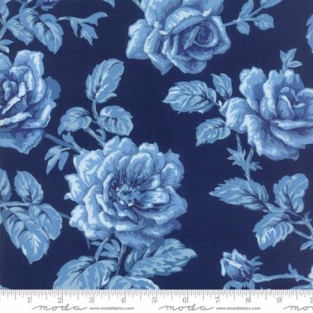 Quilt Dark Fabric Blue (Moda Christopher Wilson Tate Regency Blues Reproduction Berwick 1870 Dark Blue)