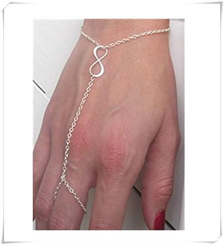 Cadena de mano infinito, arnés de mano de plata minimalista ...