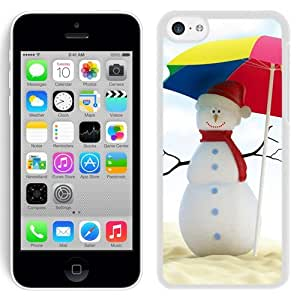 New Beautiful Custom Designed Cover Case For iPhone 5C With Summer Snowman (2) Phone Case