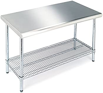 Seville Classics Commercial NSF Stainless Steel Top Worktable
