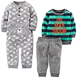 Simple Joys by Carter's Boys' 3-Piece Playwear Set, Grey/Navy, 6-9 Months