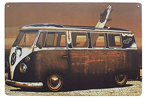 LMCR Volkswagen Kombi Van PosterStyle Ornament Coffee Iron Poster Painting Tin Sign Vintage Wall Decor for Cafe Bar Pub Home