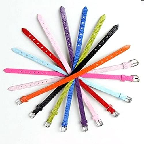 100pcs Mix Colors 8mm Slide Wristbands//Bracelets for 8mm Slide Letters,Jewelry Making Charms