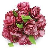 SOLEDI 6 Heads Roll Heart Roses Foam Flower - Best Reviews Guide