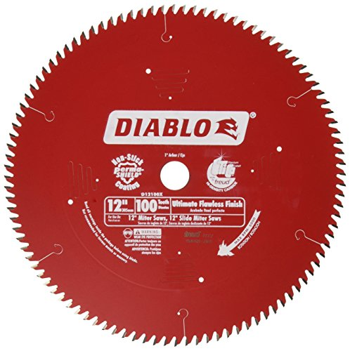 Freud D12100X 100 Tooth Diablo Ultra Fine Circular Saw Blade for Wood and Wood Composites, 12-Inch Carbide Tooth Thin Kerf Wood