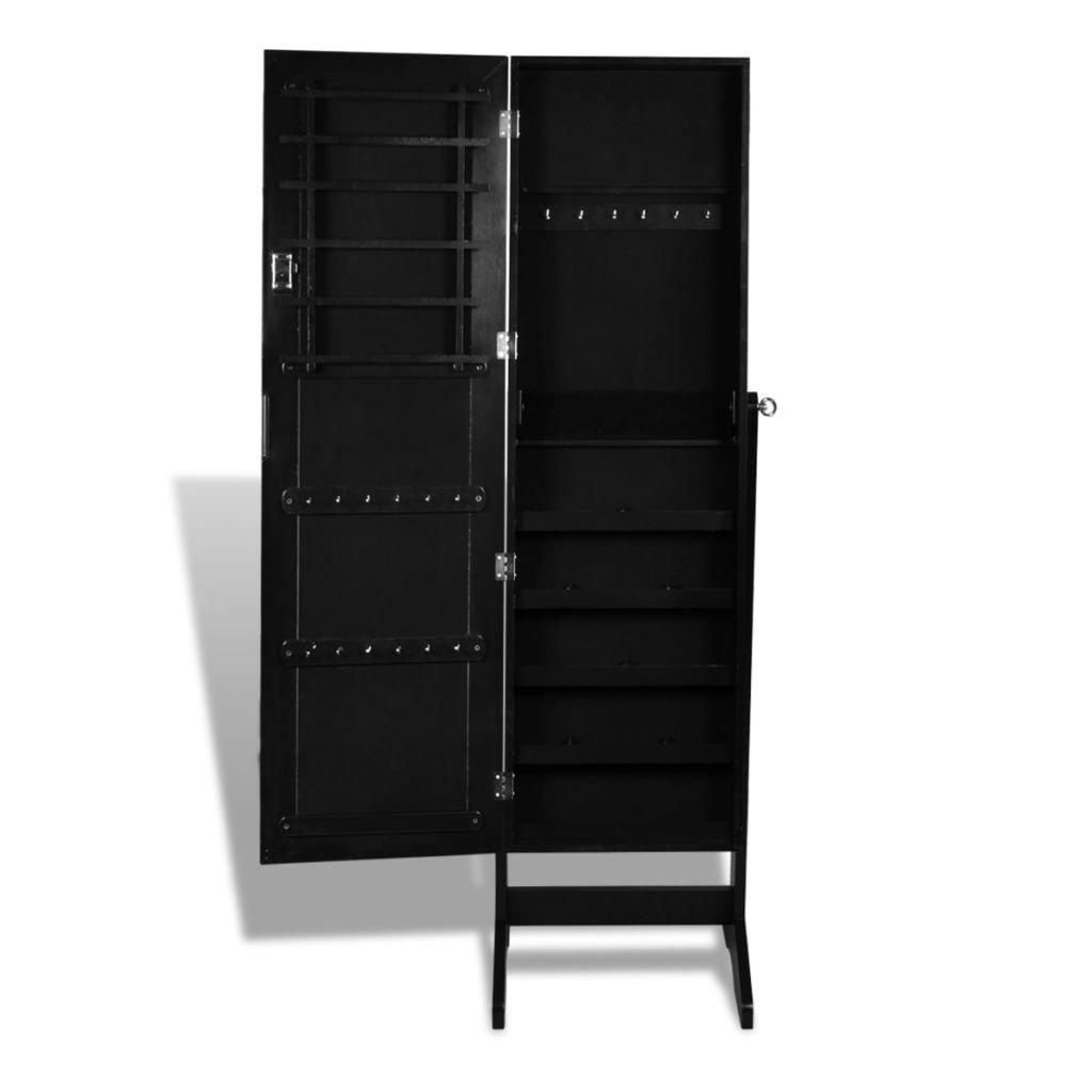 Vidaxl armoire bijoux rangement miroir meuble chambre rose 13884 - Meuble rangement bijoux miroir ...
