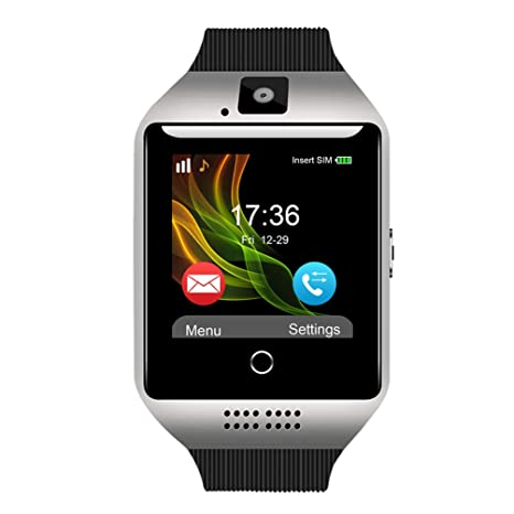 Padgene Q18 Bluetooth Smart Watch with Camera Support SIM Card & TF Card Pedometer Fitness Tracker Watch for Android & iOS