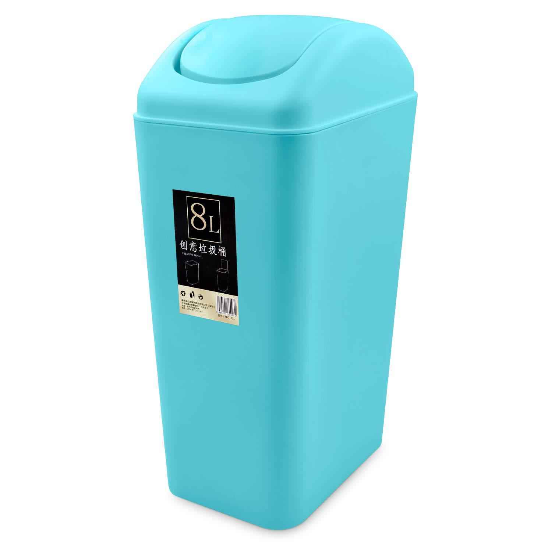 Topgalaxy.Z ミニゴミ箱 8リットル/2ガロン プラスチックゴミ箱 小さなゴミ箱 スイング蓋付き オフィス ゴミ箱 7.87